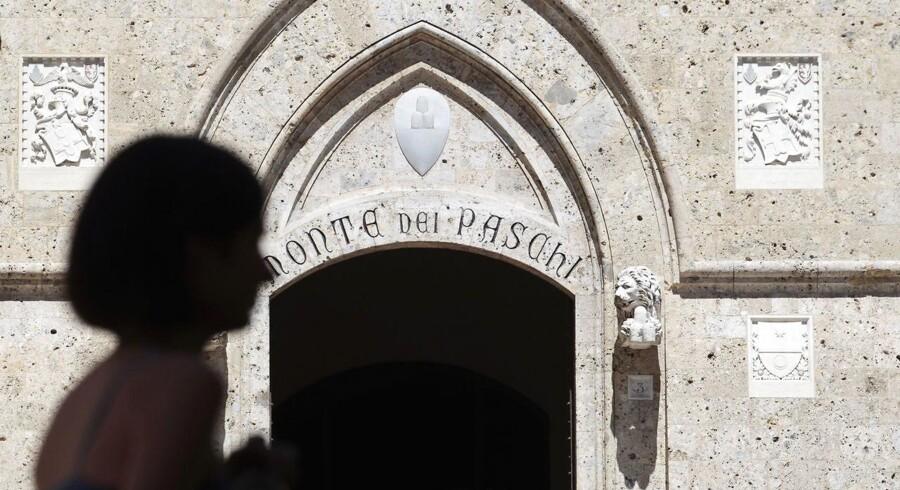 Fredagens stigning gør Banca Monte dei Paschi di Siena - der med sine 543 år er verdens ældste bank - til den næstmest vindende på det paneuropæiske Stoxx 600 ved middagstid.