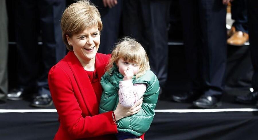 Leder for de skotske nationalister, Nicola Sturgeon. Foto: Russell Cheyne/Reuters