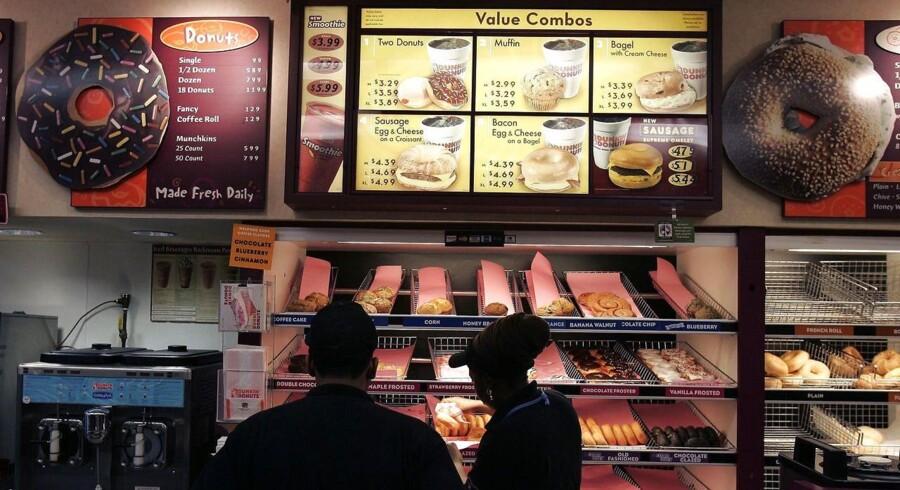 Dunkin' Donuts vil snart være at finde i Danmark. Her ses butikken i New York City.