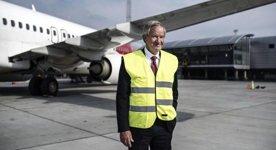 Norwegians adm. direktør, Bjørn Kjos, skriver i en ny selvbiografi om, hvordan Norwegian-ansatte aktivt forsøgte at stikke en kæp i hjulet på flyselskabets planer om langdistancefly fra London. Arkivfoto.