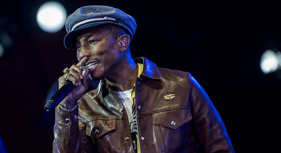 Pharrell Williams koncert på Orange scene. Onsdag d. 1. juli 2015.