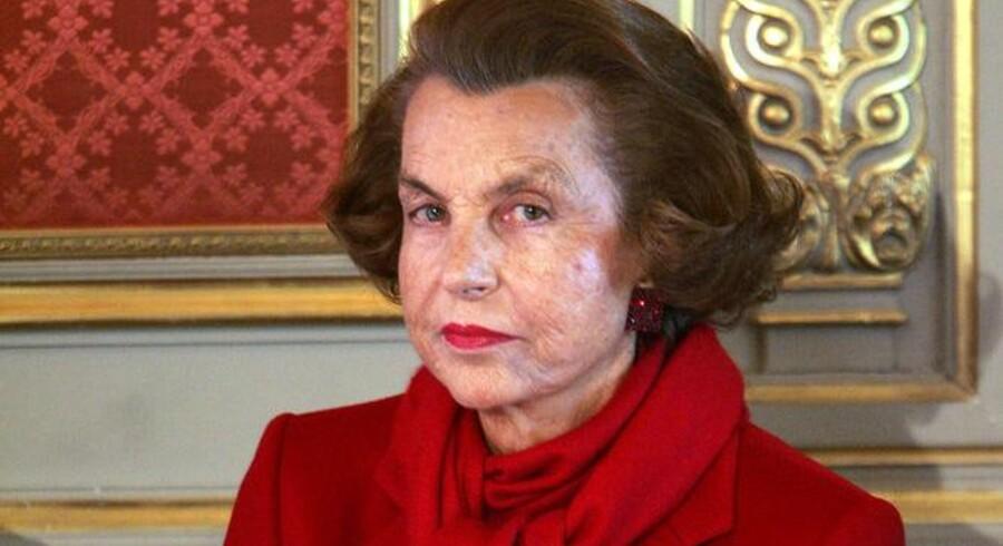 Liliane Bettencourt, der ejer kosmetikgiganten L'Oréal. Foto: Scanpix