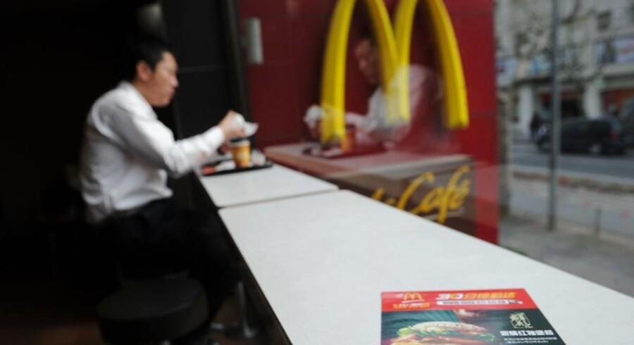 McDonald's noterer i regnskabet, at særligt salget i Europa fortsat er under pres.