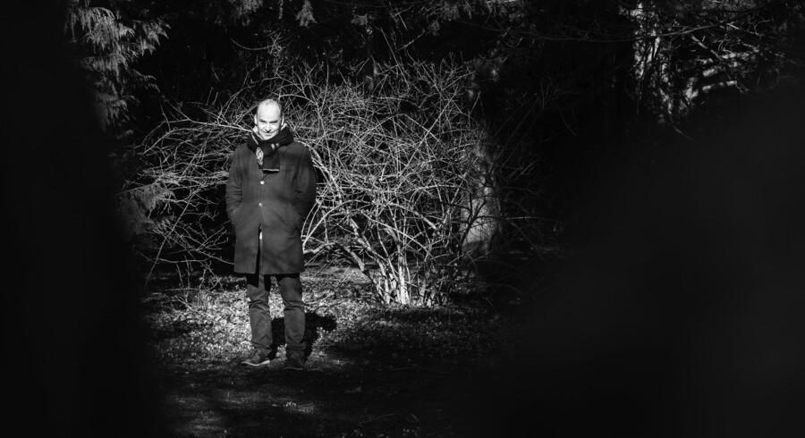Digteren Morten Søndergaard på Assistens Kirkegård. Foto: Ólafur Steinar Gestsson/Scanpix
