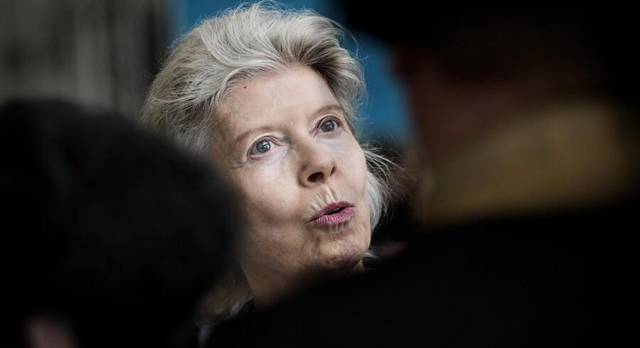 Danskernes hverdag og Danmarks fremtid betyder meget for Ane Uggla. Hun er et passioneret, socialt indigneret menneske, som sidder på en enorm pengekasse. Nu skal en del af formuen lære socialt udsatte at mestre livet. Foto: Liselotte Sabroe