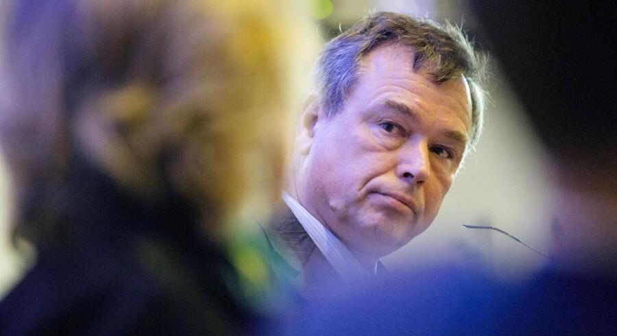 Novozymes' Peder Holk Nielsen er en af de topchefer, der i år forkæler aktionærerne. Udbyttet bliver hævet med 20 procent. Foto: Nikolai Linares