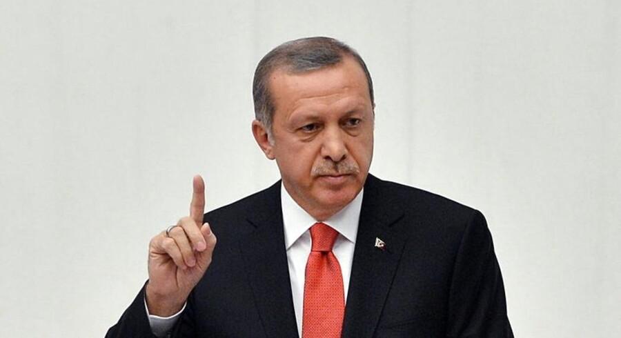 Tyrkiets præsident, Erdogan.