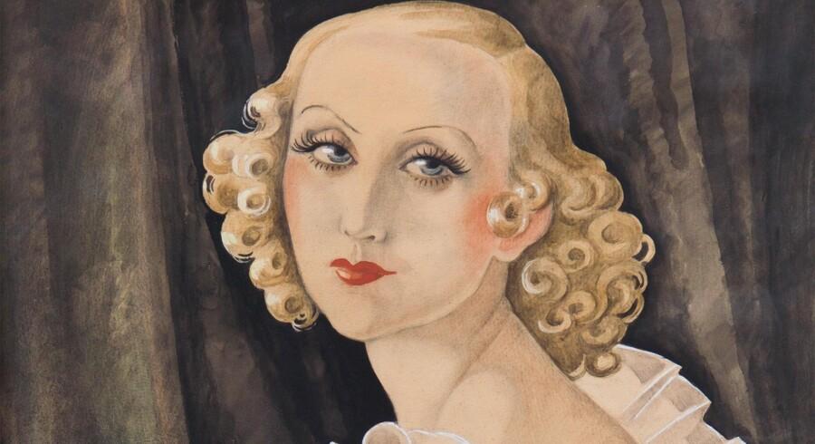 Gerda Wegener: Ukendt titel (udsnit af portræt af Maggi Baaring, 1934). Foto: PR