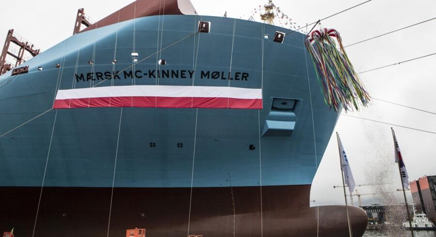 »Mærsk Mc-Kinney Møller« bliver ikke fuldt lastet fra første færd på ruten mellem Asien og Europa.