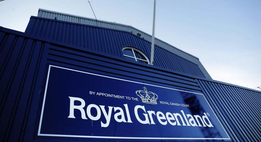 Royal Greenlands rejefabrik i Ilulissat Havn.