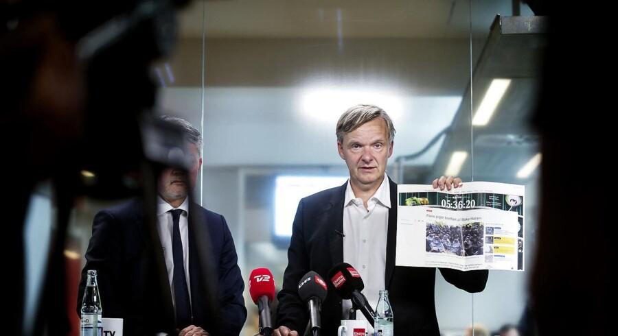 Pressemøde med Poul Madsen og EBs advokat.