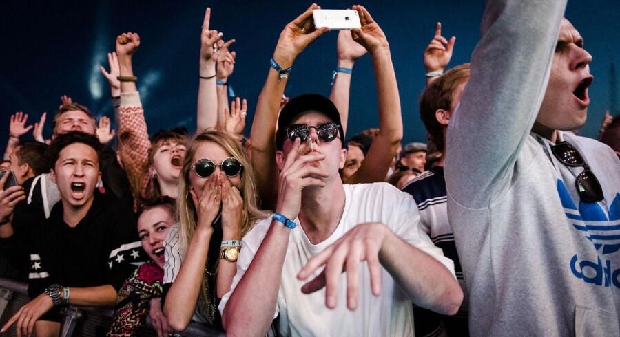 Wu-Tang Clan fik publikum til at kaste håndtegn og råbe WU-TANG på Grøn Scene fredag aften på NorthSide Festival 2015 i Aarhus.