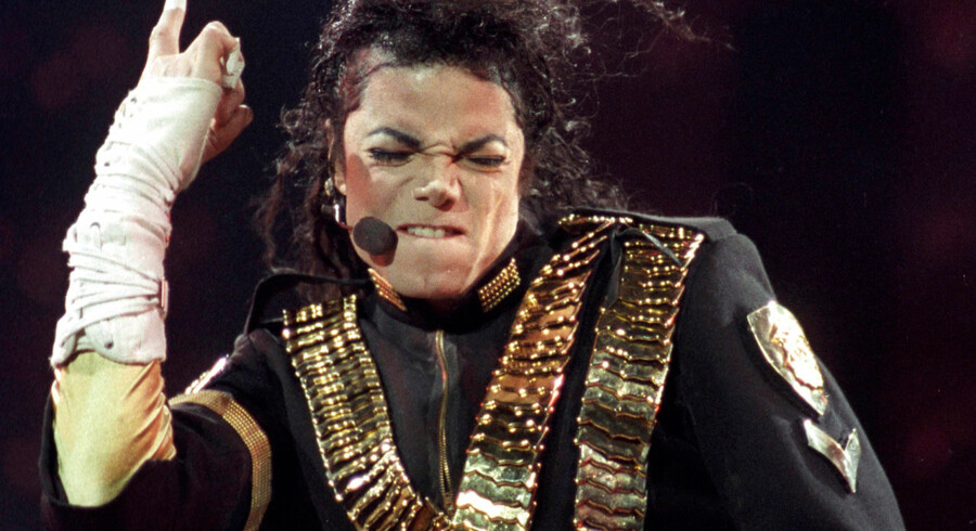Michael Jackson i sine velmagtsdage ved en koncert i Sao Paulo i 1993.