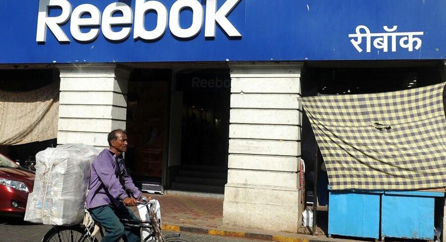 En Reebok-forretning i Mumbai.