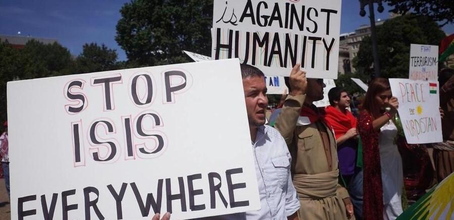 ARKIVFOTO. Demonstration mod IS foran Det Hvide Hus i Washington DC 16. august.