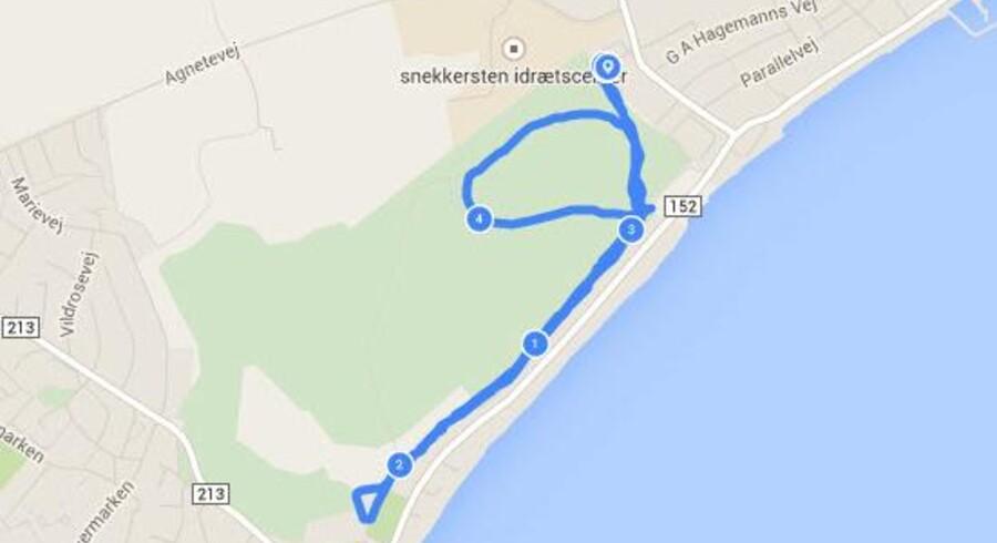 Endomondo er et populært program, der blandt andet tracker ens løberuter.