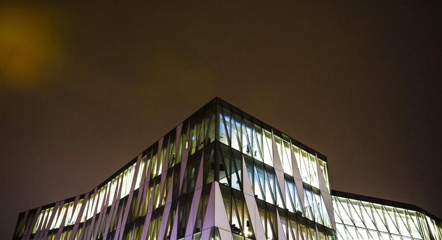 Hovedsædet for Saxo Bank på Philip Heymans Alle 15 i Hellerup fotograferet fredag den 23. januar, 2015. Bygningen er tegnet af arkitekterne fra 3XN.