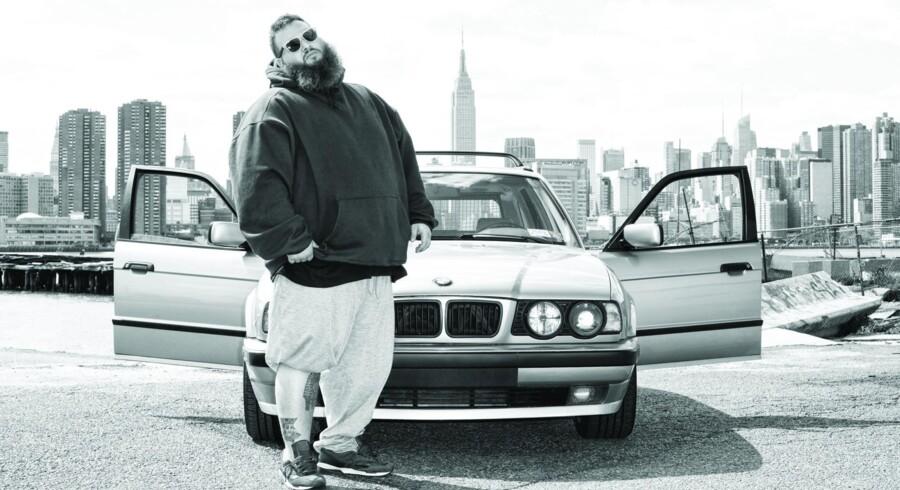 Action Bronson - festlig gourmet-rapper fra New York til Roskilde Festival.