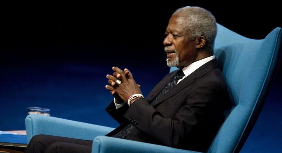 Kofi Annan var hovedtaler til CSR Awards 2013 i Holstebro, hvor APT vandt prisen for virksomhedens arbejde med socialt ansvar.