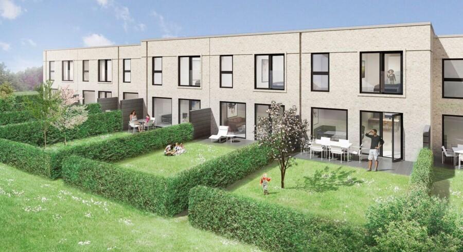 REKA Gruppen er ved at bygge 36 rækkehuse i Søborg nord for København. Foto: REKA GRuppen
