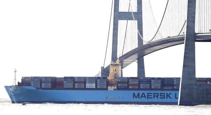 Tirsdag eftermiddag 20. august 2013 sejlede verdens største containerskib Maersk Mc-Kinney Møller under Storebæltsbroen på vej til Gdansk i Polen.