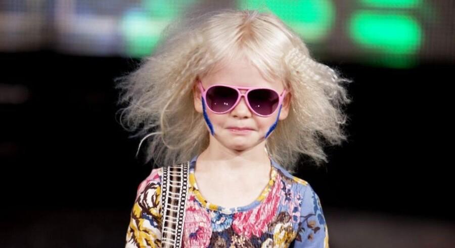 Der er generelt stor efterspørgsel på dansk børnetøj i udlandet, men det er det mere »glade« udtryk - som her er illustreret ved CIFFKID modeshowet i Bella Centret - der har vundet indpas, og der har New Generals skillet sig ud med sine sorte kollektioner.