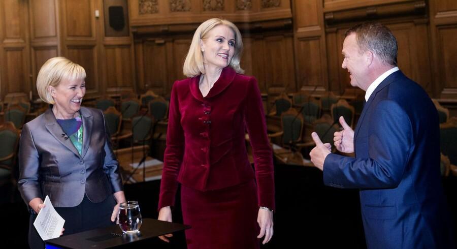 Helle Thorning-Schmidt og Lars Løkke Rasmussen i den sidste duel på DR inden valget torsdag.