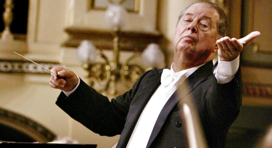 DR SymfoniOrkestrets chefdirigent, Rafael Frühbeck de Burgos måtte melde afbud til torsdagskoncerten. Arkivfoto: Felix Ordonez