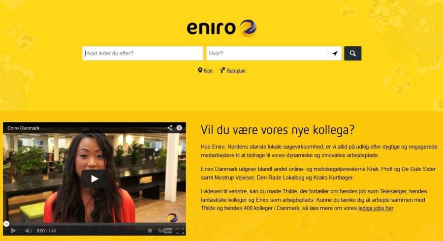 Eniro skal skære ned i bl.a. Danmark.