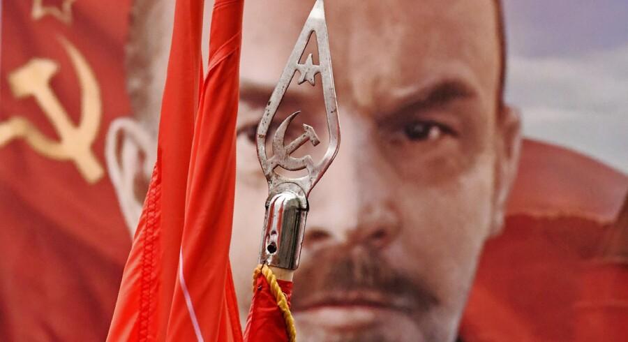 Lenin, Mao og Che Guevara fik gerne plads ved husaltre hos mange marxister i 1968. Foto: Kirill Kudryavtsev/AFP/Ritzau Scanpix