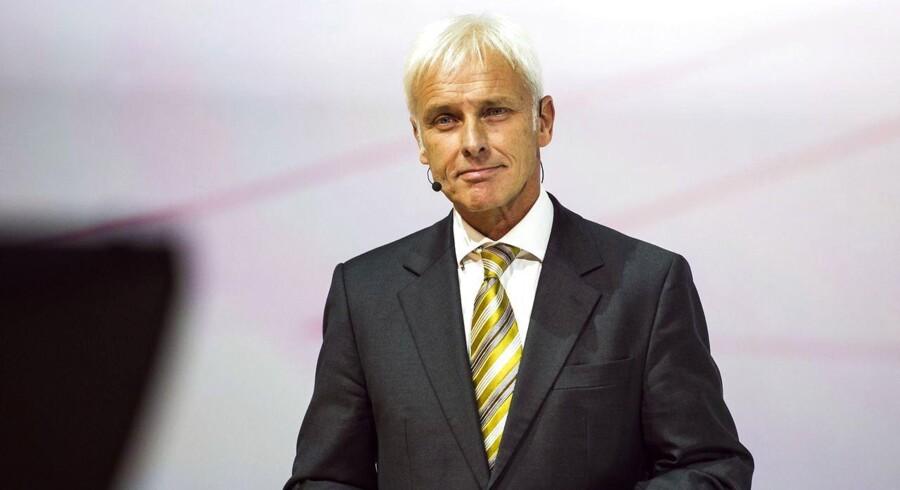Tirsdag formiddag har Volkswagens nye topchef, Matthias Müller, annonceret, at man vil ændre i de dieselmotorer, der indeholder software til manipulation af emissionsprøver. ARKIVFOTO 2015 af Matthias Mülle.