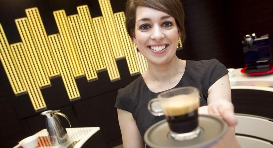 Arkivfoto fra Nespressos butik i Århus. Nu får kaffe-konceptet konkurrence i dagligvarehandlen.