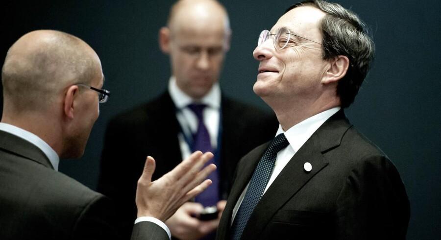 Centralbankchef i ECB, Mario Draghi. Arkivfoto.
