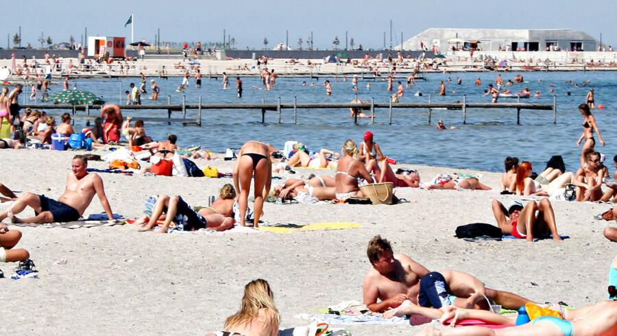 ARKIVFOTO af Amager Strandpark 2006- - Se RB 26/8 2015 20.25. Københavns Kommune: Næsten umuligt at finde toiletsynder. Den tekniske bevisbyrde er ekstrem svær at løfte, hvis man skal finde synderen, der har forurenet badevand. (Foto: Brian Bergmann/Scanpix 2015)