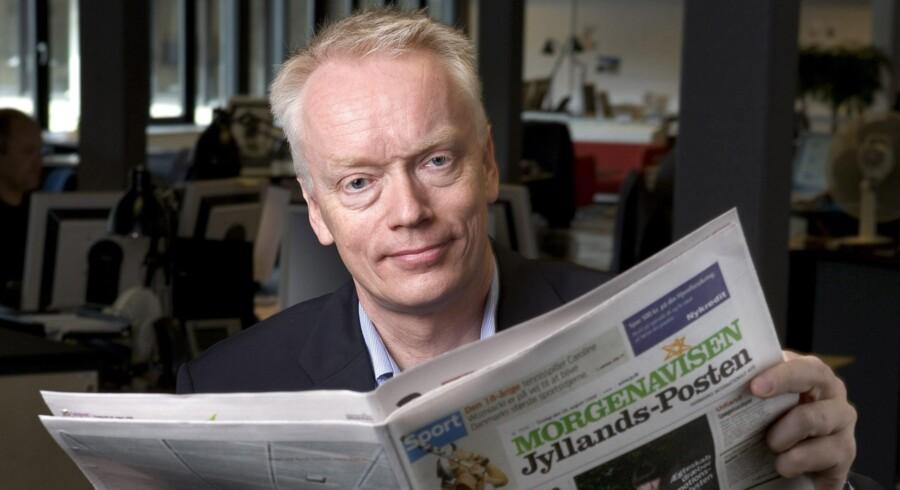 »Det eneste, jeg kan sige meget sørgmodigt, er, at det er skrækkeligt, at der skulle gå så lang tid, men også at der skulle ske så mange forfærdelige begivenheder som senest den i Paris, før virkeligheden er gået op for de mange,« siger Jørn Mikkelsen, nuværende chefredaktør for Jyllands-Posten, hvis avis udgav Muhammed-tegningerne i 2005. Arkivfoto: Jan Dagø/Polfoto
