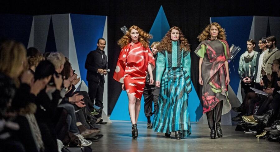 Dansk mode klarer sig bedre i udlandet, end i Danmark. Her er det modeshow fra Copenhagen Fashion Week i januar.