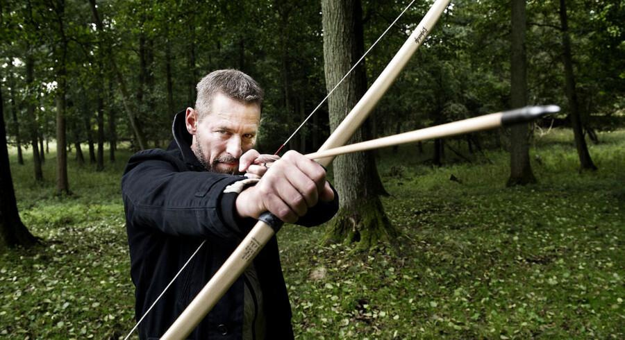 Mikael Birkkjær skal i træningslejr inden rollen som Robin Hood i Det kongelige Teaters kæmpeforestilling i Ulvedalene(Foto: Liselotte Sabroe/Scanpix 2012)