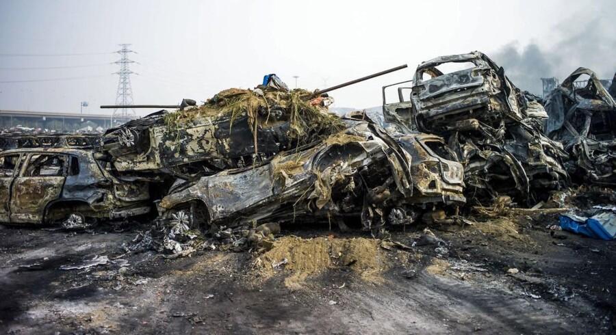 Det var tilsyneladende brandslukningen der var årsag til eksplosionen i Tianjin.