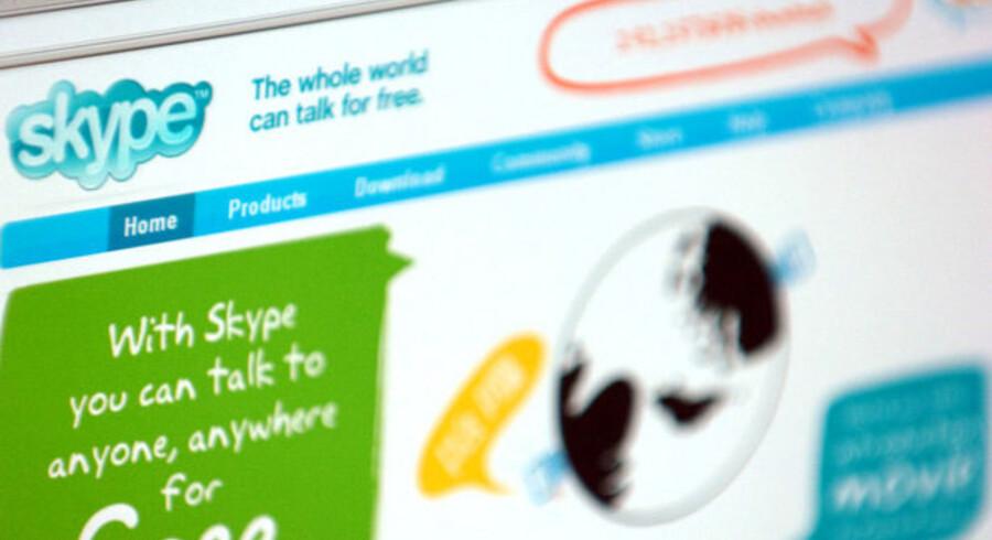 Med Skype kan man ringe gratis til Skype-brugere i hele verden og - for et mindre beløb - til almindelige telefonnumre. Foto: Scanpix