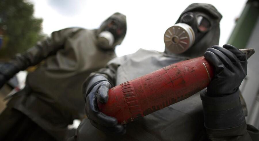 En del af de kemiske våben fra Syrien skal destrueres her på anlægget GEKA i den tyske by Münster.