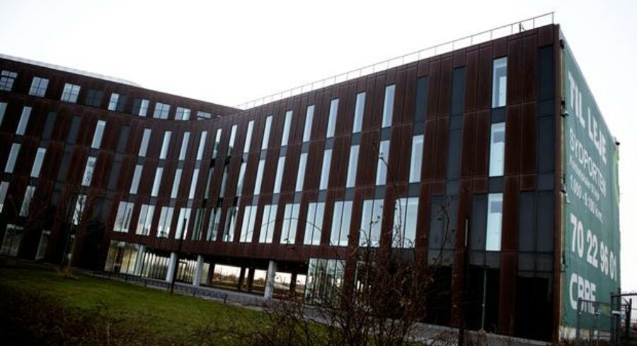 Midlerne til at opføre Sydporten blev også brugt til private formål, mener kuratoren, der har rejst krav mod Jill Andersens konkursbo. Det markante erhvervsbyggeri nær Sjællandsbroen står stadig tomt.
