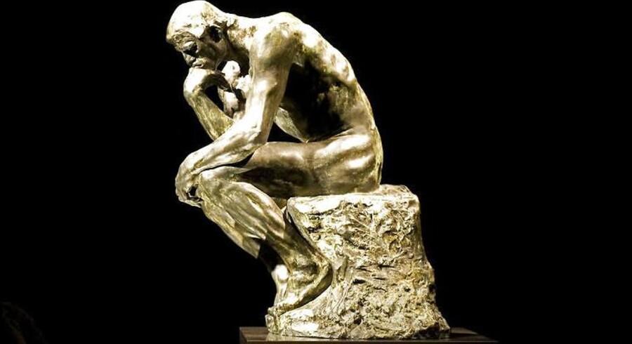 Auguste Rodins »Grubleren«.