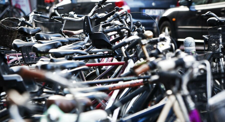 Cykler parkeret i København.