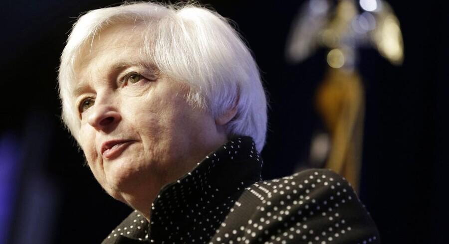 Den amerikanske centralbankchef, Janet Yellen.