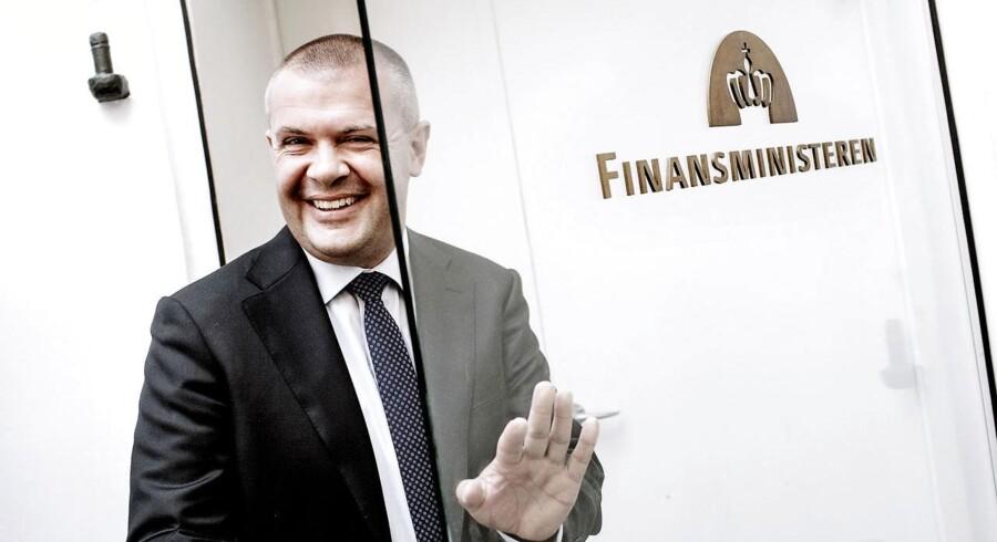 Finansminister Bjarne Corydon kan glæde sig over, at EU ser en lysere fremtid forude.