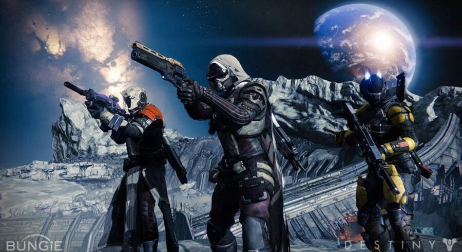 Det nye skydespil »Destiny« kommer i handelen 9. september men tegner allerede nu til at blive en succes med et historisk stort antal forudbestillinger. Illustration: Activision Blizzard