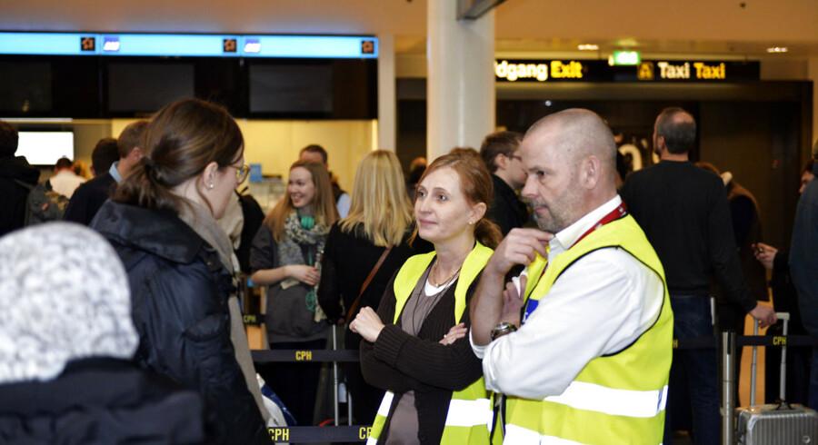 SAS-strejke i Københavns Lufthavn søndag d. 1. marts 2015