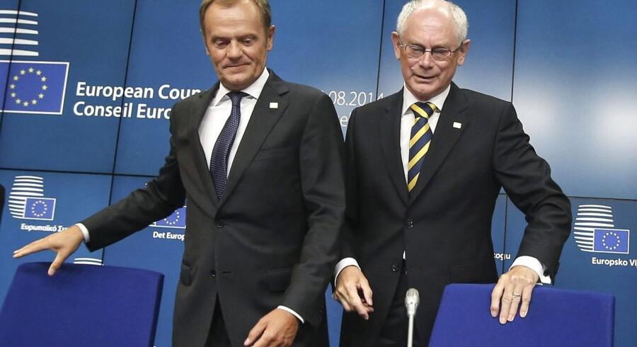 Donald Tusk og Herman Van Rompuy.