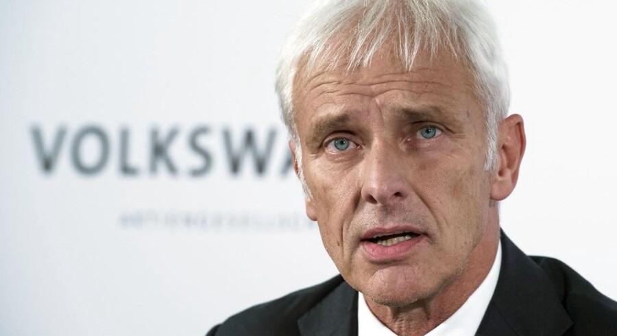 Matthias Müller, Volkswagens koncernchef