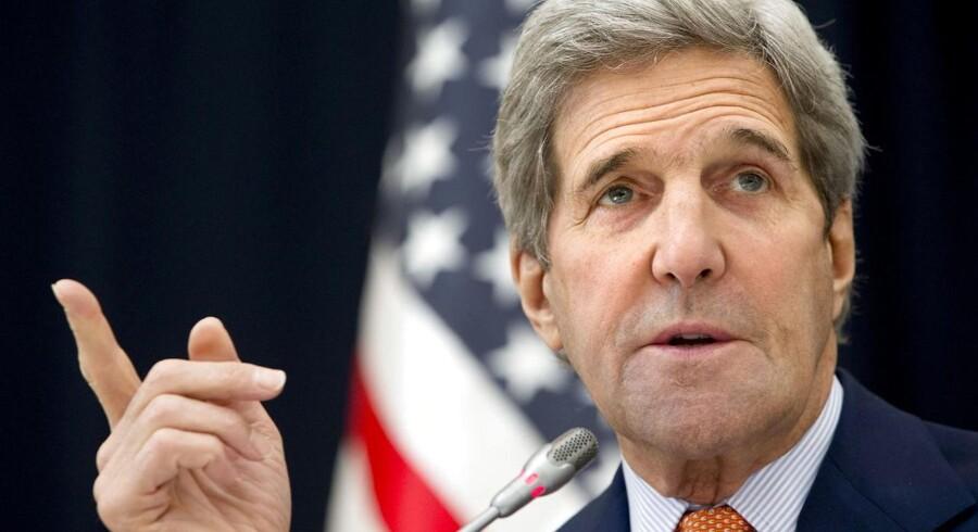 USAs udenrigsminister, John Kerry, er optimist.